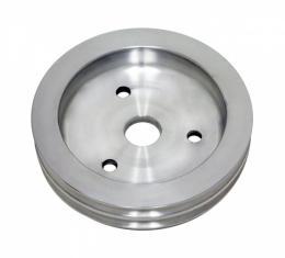 Chevy Small Block Aluminum Crankshaft Pulley, Small Water Pump, 2 Groove