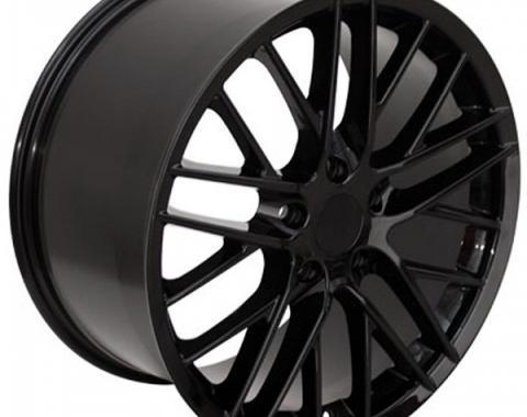 Corvette 18 X 9.5 C6 ZR1 Reproduction Wheel, Black, 1997-2013