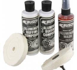Busch Heavy Duty Aluminum Wash & Buff Kit