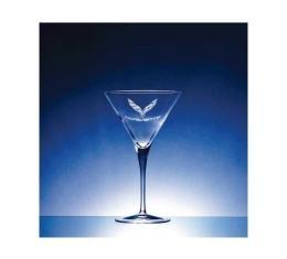 Corvette Crystal Crescendo Martini Glass Set Of Four by Luigi Bormioli for C7 Corvettes - 10 Ounce