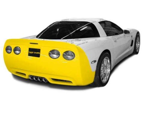 Corvette Tiger Shark Rear Fascia, Urethane, Pre-Painted, 1997-2004