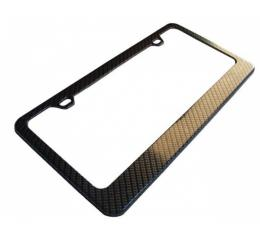 Corvette License Plate Frame, Carbon Fiber Finish, 2005-2013
