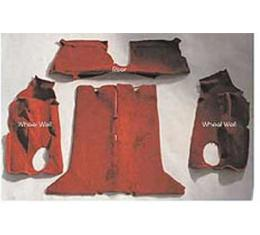 Auto Custom Carpet, Carpet Set, Mass Back, Cut-Pile, Rear, Ruby Red| 1635-93/9933.-1 Corvette Convertible 1993