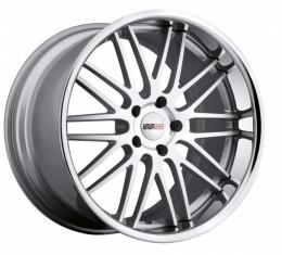 Corvette Wheel, Cray Hawk, 19x9.5'', Rear Only, Silver With Machine Face And Chrome Stainless Lip, 2014-2017