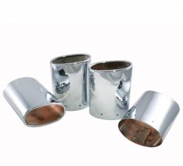 Corvette Exhaust Extensions, Chrome Plated Stainless Steel,With Dual Tips, 1997-2000