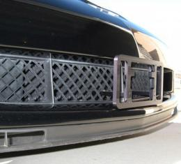 Corvette Aero Plate Front License Plate, Black Anodized, 2005-2013 (Except ZR1)