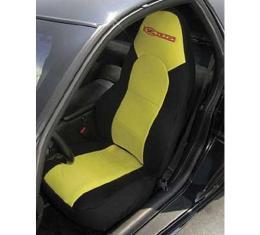 "Corvette ""Dive Suit"" Slipcovers, Black, With Gray Open Insert & Z06 Logo, 2001-2004"