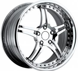 "Corvette Forged Wheel Set, 19""/20"", Z06/Grand Sport, Chrome, 2005-2013"
