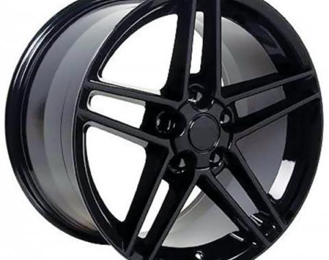 Corvette 17 X 9.5 C6 Z06 Reproduction Wheel, Black, 1988-2004