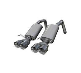 Corvette Kooks Axle Back Exhaust System With Polished Tips, 2005-2013
