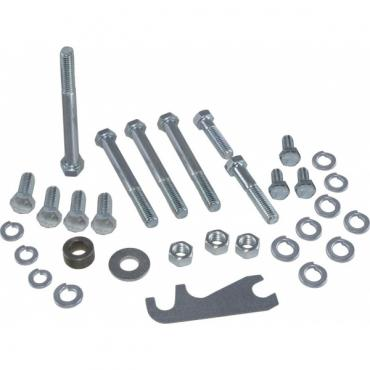Corvette Air Conditioning Compressor & Bracket Mounting Bolt Kit, A6, Small Block, 1964-1982