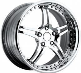 "Corvette Forged Wheel Set, 19""/20"", Z06, Chrome, 1997-2004"
