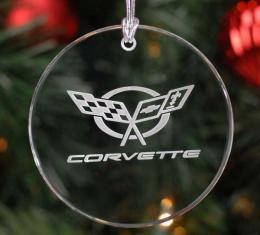 Corvette Crystal Ornament, Circular Shape, 1997-2004