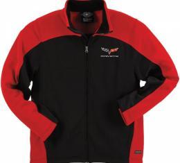 Corvette C6 Jacket, Men's, Hexport, Black/Red