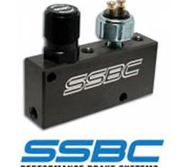 Corvette Proportioning Valve, SSBC, Adjustable, With BrakeLight Switch