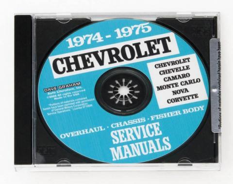 Corvette Service Manual On CD, 1974-1975