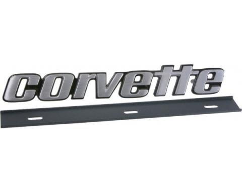 Corvette Bumper Emblem, Rear, Late 1976-1979