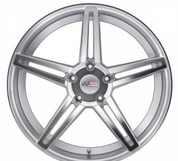 Corvette Wheel, Cray Brickyard, 19x10.5, Rear Only, Silver, 1984-2017