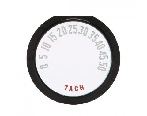 Trim Parts 53-54 Corvette Tachometer Face, with Numbers, Each 5110