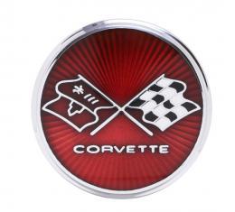 Trim Parts 75-76 Corvette Rear, Fuel Door Emblem, Each 5962