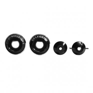 Trim Parts 58 Full-Size Chevrolet Radio Bezel Set, with Spacers, 4 pieces included 2008