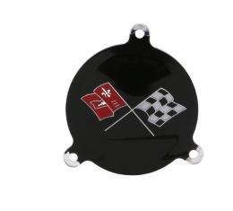 Trim Parts 65-66 Corvette Black Upper Left Hand Spinner Emblem, Each 5072A
