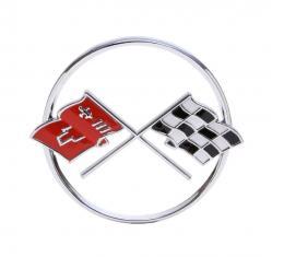 Trim Parts 62 Corvette Nose Emblem, without studs, Each 5206