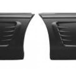 Corvette Side Fender Louvers Upgrade, With 1995-96 Stylng, 1984-1990