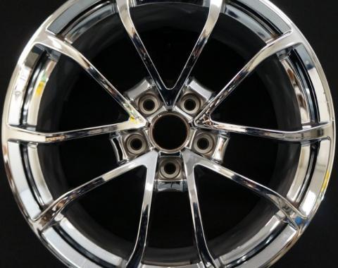 Corvette C7 Grand Sport Chrome Wheel Set, Staggered, 2008-2018