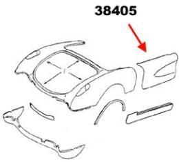 Corvette Door Skin, Left, Outer, 1956-1960