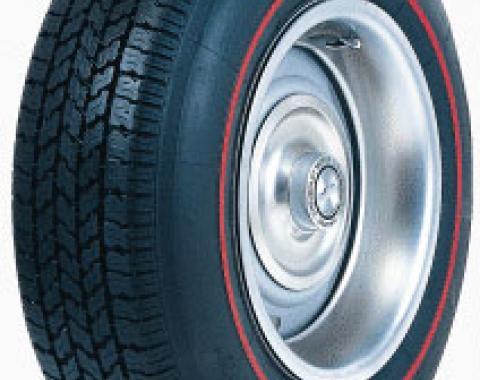 Corvette Tire, 205/75R15, Radial, Red Line, 1967