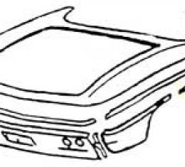 Corvette Quarter Panel, Right, Front, Lower, Rear, 1961-1962