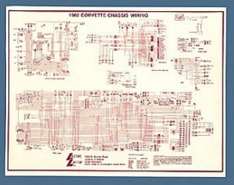 Corvette Wiring Diagram, Laminated