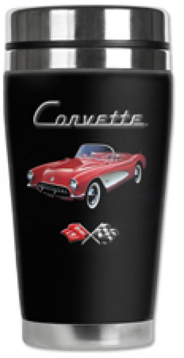 Corvette Mugzie® brand Travel Mug - Red Corvette