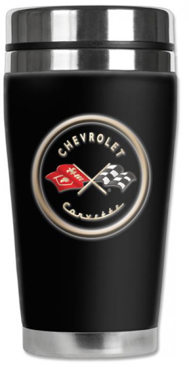 Corvette Mugzie® brand Travel Mug - Corvette C1 Logo