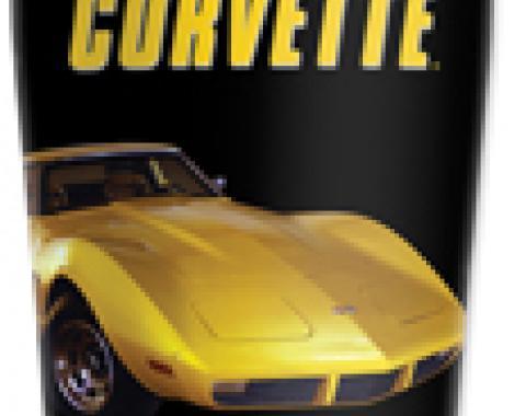 Corvette Mugzie® brand Travel Mug - Yellow Corvette