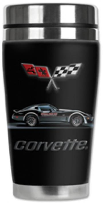 Corvette Mugzie® brand Travel Mug - Corvette Pace Car