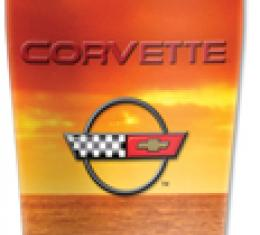 Corvette Mugzie® brand Travel Mug - Corvette Sunset C4 Logo