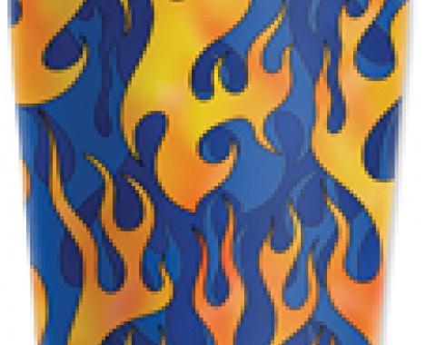 Mugzie® brand Travel Mug - Blue Flames
