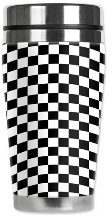 Mugzie® brand Travel Mug - Checkered Flag