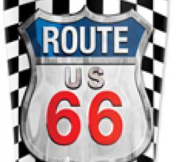 Mugzie® brand Travel Mug - Checkered Flag Route 66