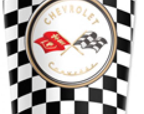 Corvette Mugzie® brand Travel Mug - Checkered Flag Corvette Logo
