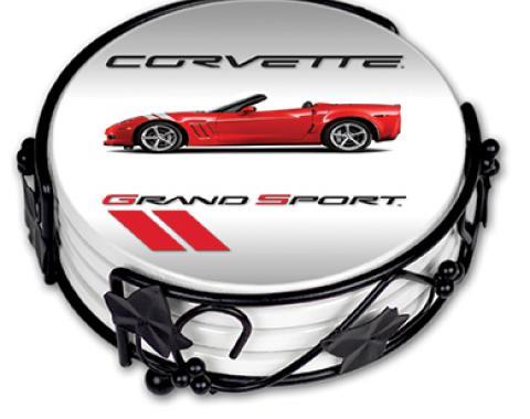 Corvette Grand Sport Ceramic Drink Coaster Set