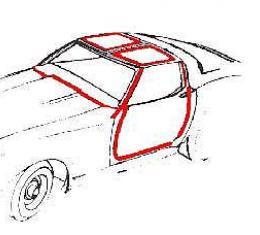 Corvette Coupe Body Weatherstrip Kit, Latex, 1978-1982