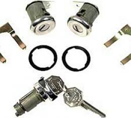 Corvette Lock Set, Ignition & Door, With Key & Pawls, 1959-1964