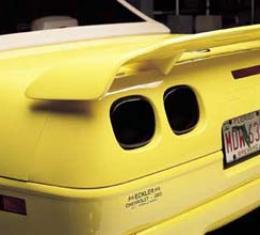 Corvette Black-Out Light Kit, Rear, Smoke Gray, 1990-1996