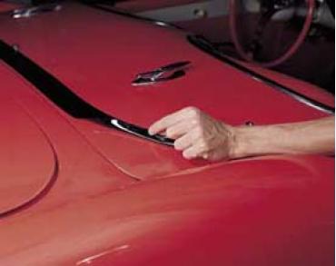 Corvette Deck Lid Protector, Hardtop, Black, 1956-1962