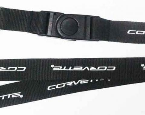 Corvette Lanyard, Key & Badge Holder, With C6 Emblem