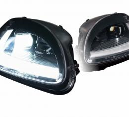 Morimoto 2005-2013 Chevrolet Corvette Black DRL Bar Projector LED Headlights with Sequential Turn Signal LF460