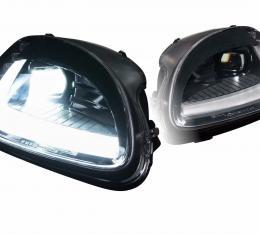 Morimoto 2005-2013 Chevrolet Corvette Black DRL Bar Projector LED Headlight and Taillight Set